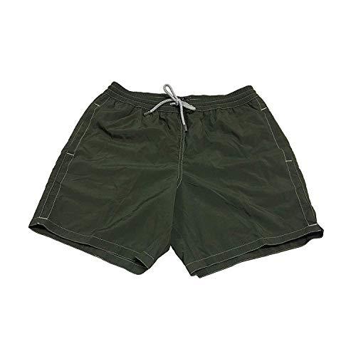 Zeybra Männerkostüm Boxer-Shorts Grün Mod AUB001 100% Polyamid Made in Italy - Grün, IT 52 - XL