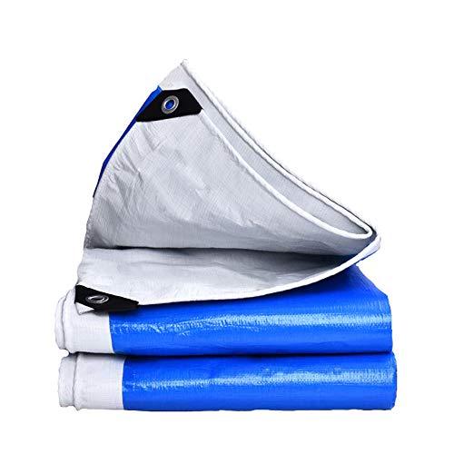 LIBWX Lona Impermeable al Aire Libre con Ojales - 100% Impermeable y con protección UV, Cubierta para Tienda de campaña, Hamaca, Piscina, jardín, automóvil, Motocicleta, Barco,4 * 5M