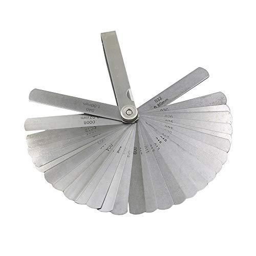 シックネスゲージ 32枚組 0.02mm~1mm ステンレス製 シクネスゲージ 隙間ゲージ すき間ゲージ 隙間 ゲージ 厚さ 薄さ 測り 測定 ツール