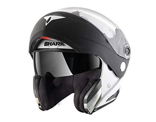 Shark Openline Pinlock D-TONE - Casco modular para hombre, color blanco, negro y blanco, talla M