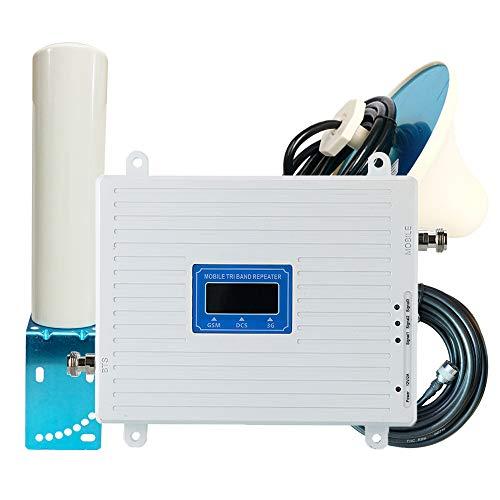 KKmoon Universeller Signalverstärker Handy Signalverstärker Tri-Band-Verstärker 900 1800 2100 MHz GSM DCS 3G Intelligentes Repeater-Kit mit Außenantenne