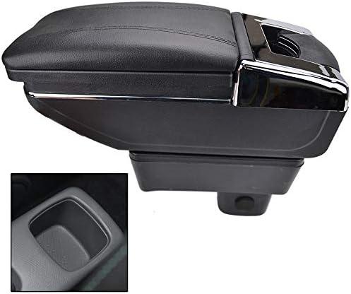 Drehbare Armlehne Für Swift 2005 2020 Schwarz Gewinde Aufbewahrungsbox Armlehne Schwarz Mit Schwarzem Faden Auto