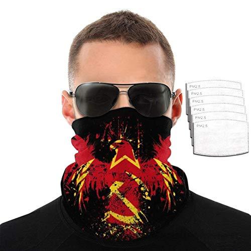 kasonj Russische Flagge Russland Flags Neck Gaiters Face Mouth Cover Bandanas Headscrarf, Anti-Staub-Sonnenschutz, atmungsaktiv für Outdoor-Aktivitäten