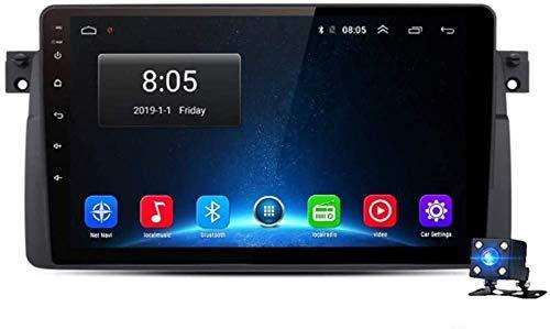 LNHJZ Android 9.0 Car Stereo Radio 1 DIN 2 DIN Sat Nav Compatible con BMW E46 (M3 Rover) Navegación GPS 9 '' Pantalla táctil Reproductor Multimedia Receptor Video con 4G DSP Carplay