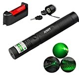 5. JCKSY Green Light Torch Pointer, Demonstration Projector High Power Handheld Flashlight Pen, Visible Beam with Adjustable Focus for Camping Biking Hiking Outdoor