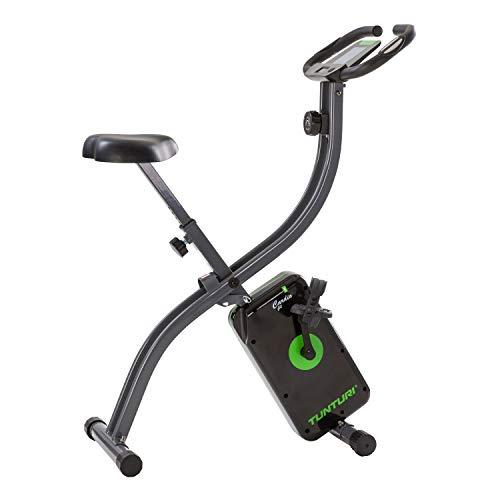 Tunturi Cardio Fit B20 X Bike Heimtrainer Fahrrad klappbar/Fitnessfahrrad/Hometrainer Fahrrad Trainer mit LCD-Bildschirmanzeige und Tablethalterung - Schwarz