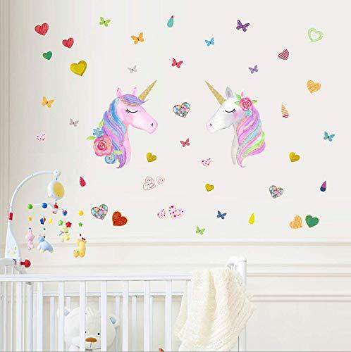Pegatinas para Niños Unicornio Caballo Pegatinas De Pared Unicornio y Star Pegatinas de Pared Vinilos Decorativos para Habitación Infantiles Niños Dormitorio Salón (Varios)