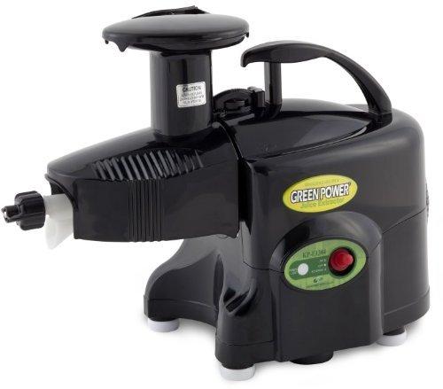 Green Power KPE1304 Twin Gear Juicer Wheatgrass, Vegetable & Fruit Juicer - BLACK |