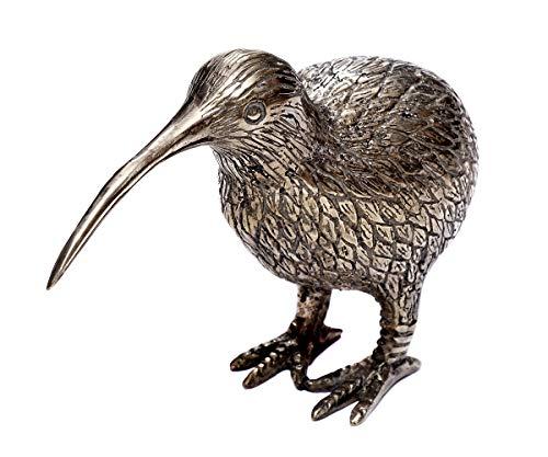 Brillibrum design kiwi dier figuur verzilverd vogel Nieuw-Zeeland handgemaakte dierenfiguur nationaal symbool van Nieuw-Zeeland geluksbrenger S