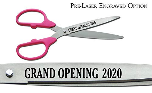 New Pre-Laser EngravedGrand Opening 2020 36 Pink/Silver Ceremonial Ribbon Cutting Scissors