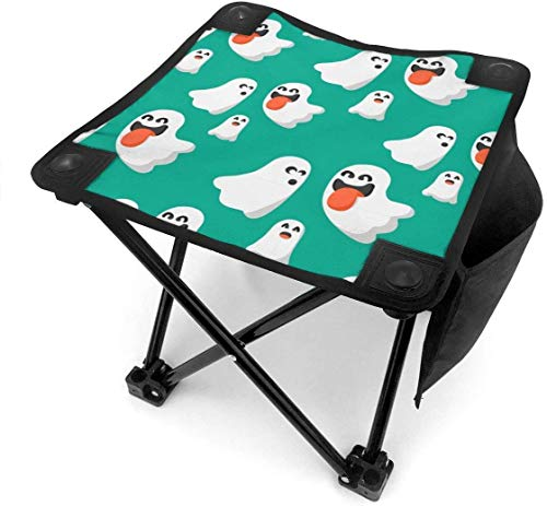 ghkjhk8790 Camping Stool Folding Funny Ghost Halloween Portable Chair Camping Hunting Fishing Travel with Carry Bag