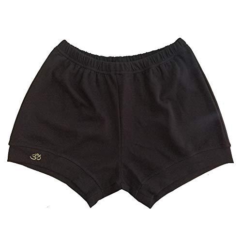 none branded Iyengar pantalones cortos de algodón elástico suave de calidad para hombres y mujeres profesionales de Iyengar pantalones cortos de yoga (S, negro)