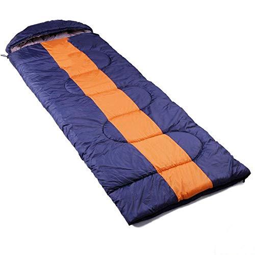 Coolshopy Saco de dormir al aire libre ultraligero resorte de adultos y tipo de sobre verano las costuras de algodón acampar bolsa durable dormir, (180 + 30) * 75cm @ amarillo Adecuado para niños, ado