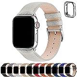 Cinturino Apple Watch 44 mm 42mm 40mm 38mm, Fullmosa LichiBosin Cinturini in Pelle per Apple Watch Serie 6 5 4 3 2 1, iWatch, Apple watch SE, Per Uomo e Donna