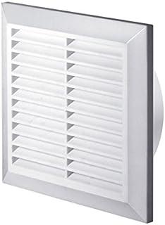 Rejilla de ventilación blanca de 200 x 200mm con