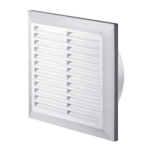 Lüftungsgitter Abschlussgitter Insektenschutz rund Ø 150 mm weiß ABS Gitter T27