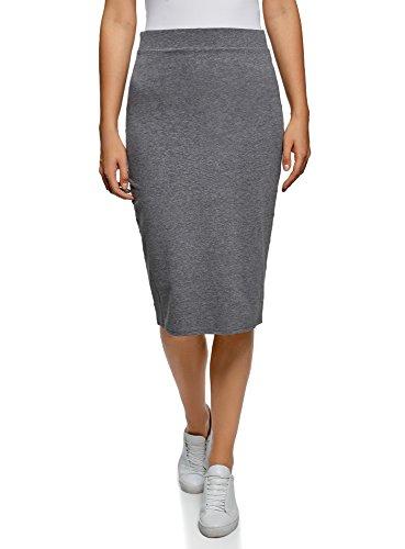 oodji Ultra Mujer Falda-Lápiz (Pack de 2), Gris, ES 36 / XS