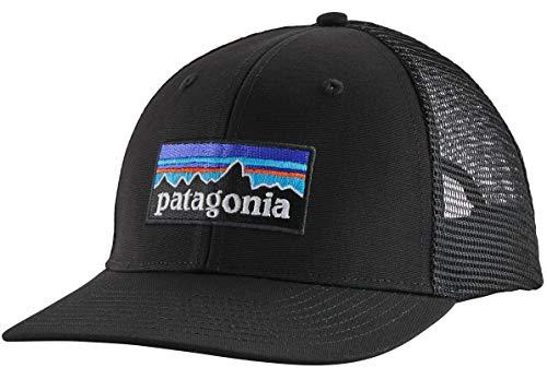 Patagonia P-6 Logo Trucker Hat Baskenmütze, Schwarz, Einheitsgröße