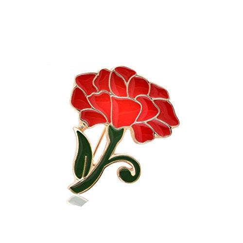 Hochzeit Partei Rote Nelke Brosche Schmuck Blume Für Mutter Tag Geschenk