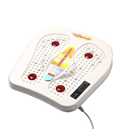 AW-SJ Electric Foot Massager Infrared Heating Therapy Acupuncture Kneading Massager Feet Relaxation Vibrator, Using EMS and TENS Stimulator, for Relieve Pains and Cramps