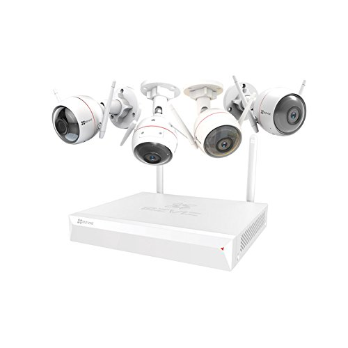EZVIZ ezwireless Kit, 1 Nvr Vault Live e 4 Husky Air Camera, Wi-fi da...