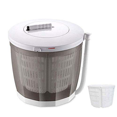 VIVICL Mini Lavadora Mano Lavadora De Hogar Portátil 2 En 1 Y Secador De Centrifugado Lavadora Integrada Sin Electricidad, Uso Fácil, para Apartamentos, Dormitorios,Gris