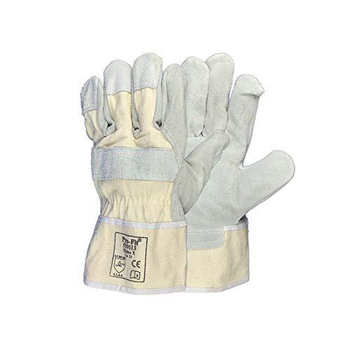 Pro-Fit® Rindspaltleder Handschuhe | Größe 8,10,11 oder 12 | Arbeitshandschuhe Handschutz (12)
