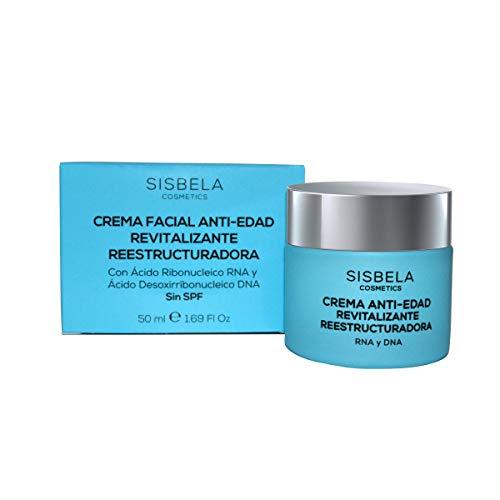 Sisbela Crema Facial Día y Noche Antiedad Hidratante, Revitalizante y Reestructuradora 50 ml