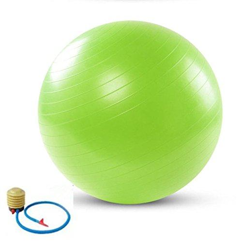 QUBABOBO Pelota de Yoga PVC Anti-ráfaga Ejercicio Fitness Workout Pilates Core Estabilidad Balance Bola de Suiza - Fuerza extra Gruesa de Balón Duradera + bomba de pie