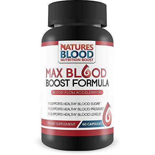 Max Blood Boost Formula - Blood Flow Accelerator - Supports Healthy Blood Sugar - Supports Healthy Blood Pressure - Supports Healthy Blood Levels - The Best High Blood Pressure Supplements