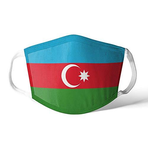 M&schutz Maske Stoffmaske X Groß Asien Flagge Aserbaidschan Wiederverwendbar Waschbar Weiches Baumwollgefühl Polyester Fabrik