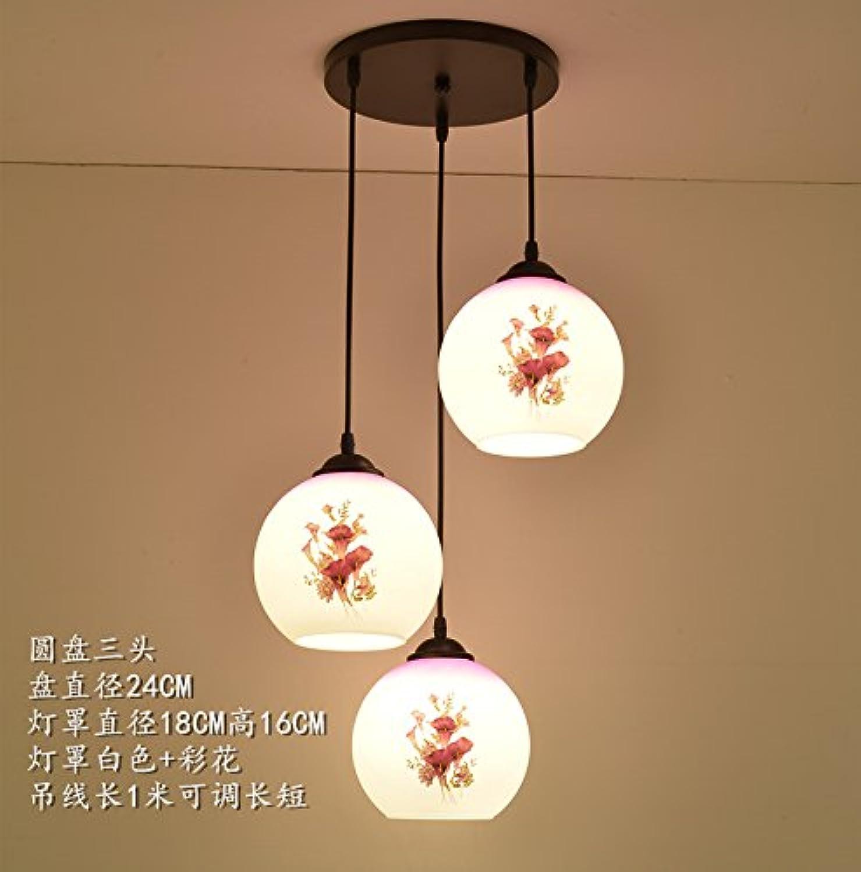 BESPD Restaurant moderne minimalistische Pendelleuchte Kristallleuchtern kreative Esszimmer Licht Nordic Charakter Bar Lounge Schlafzimmer Pendelleuchte 180 grau lila Disk