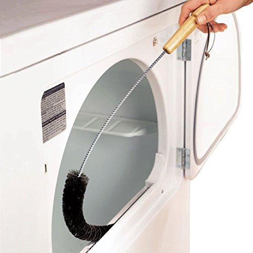 Waschmaschine Reinigungswerkzeug Wäschetrockner Lint Vent Trap Reiniger Pinsel Gas Elektrische Feuer Kühlschrank Reinigungswerkzeug (Silber)