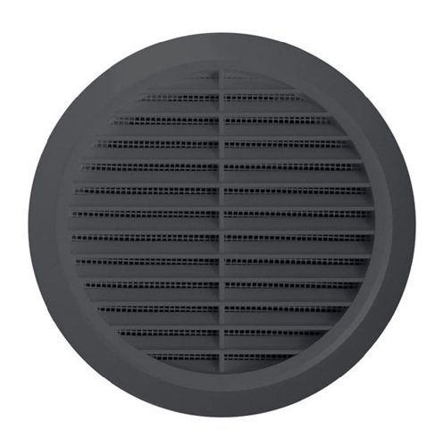 Round circle wall grille cover 100mm duct , GREY with fly net, Wall grilles(T30GR)