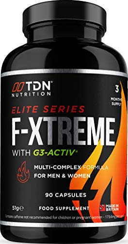 F-Xtreme for Men and Women - Weight Management Supplement - 90 Capsules - 3 Months Supply - Effective Multi-Complex Burner Formula with G3-ACTIV - EU Safe & Legal Formula - UK Made - Vegan Suitable