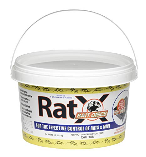 EcoClear Products 620118-4, RatX Bait Discs, All-Natural Non-Toxic Humane Rat and Mouse Killer, 4 lb. Bucket