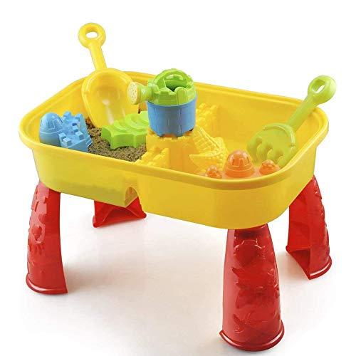 Zand en watertafel met deksel en accessoires - Kids Outdoor Play Garden Zandbak