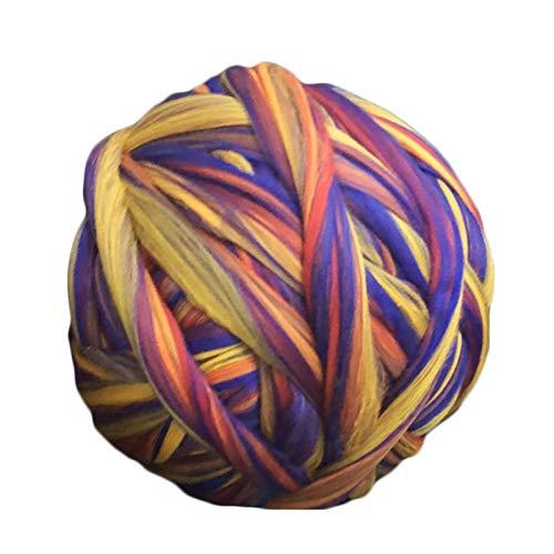 Hilo de lana mezclada para tejer, 500 g, bolas de hilo lavable a máquina, tejido a mano, multicolor