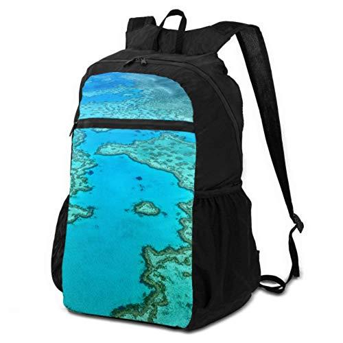 JOCHUAN Daypack Backpack Travel Australia Great Barrier Reef Coral Packable Backpack Hiking Bag for Women Lightweight Waterproof for Men & Womentravel Camping Outdoor
