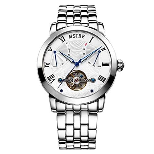 JYTFZD YANGHAO-Reloj de Pulsera- Reloj mecánico mecánico a Prueba de Agua para Hombre Reloj mecánico multifunción automático de TOURBILLON OUZDNSSB-5