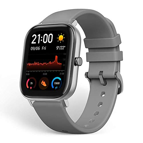 Amazfit GTS Smartwatch Fitness Tracker with Built-in GPS, 5ATM Waterproof, Heart Rate, Smart Notificatons (Gray)