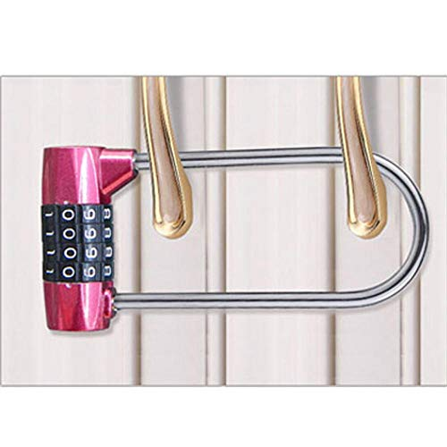 Cilinderslot 5 Password Combinatie Password Lock Antidiefstal Legering Staal U Vorm Lock Hangslot Glazen Deur Sloten Fiets Motorfiets Chian Lock ZILVER