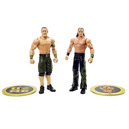 WWE Pack 2 figuras de acción luchadores Cena y Michaels con accesorios, muñecos...