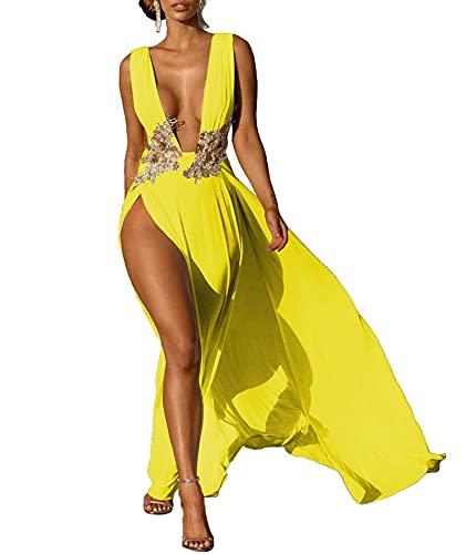 SOMTHRON Vestido de noche para mujer, vestido de boda, vestido de playa,...