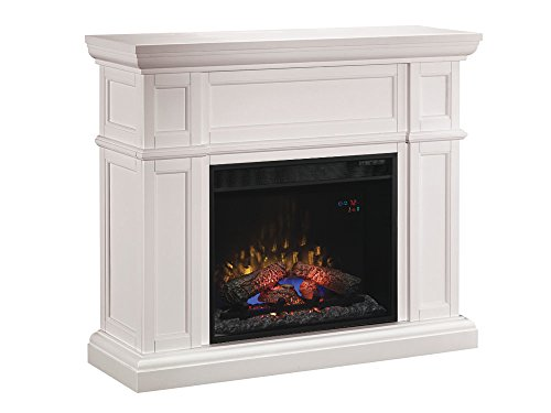 ClassicFlame Artesian Wall Fireplace Mantel, White (Electric Fireplace Insert sold separately)