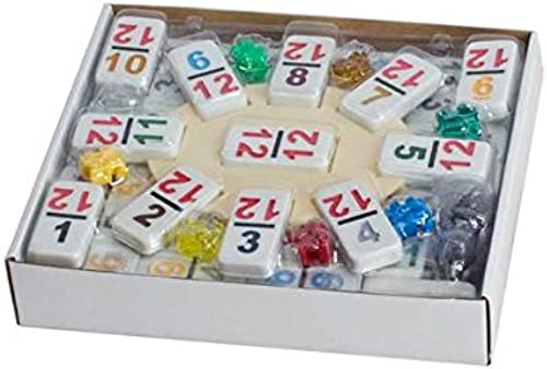 Double 12 Mexican Train Set Numeral Tiles