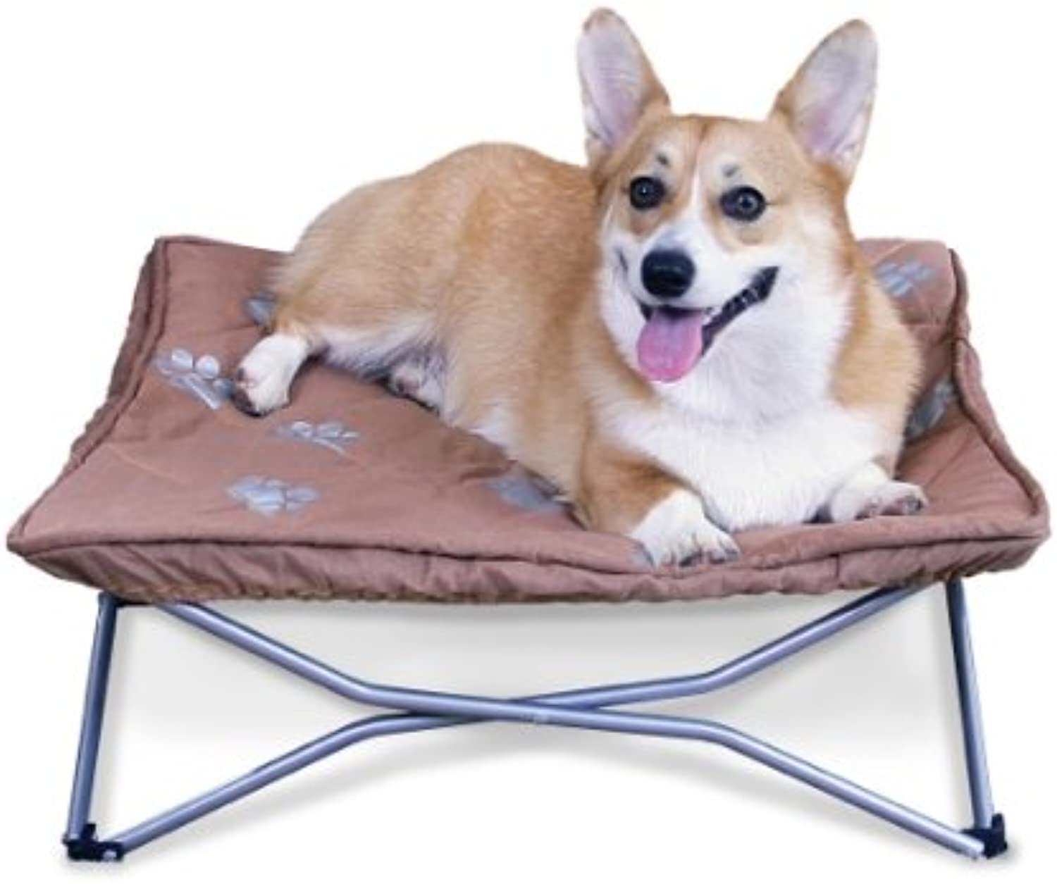 Carlson Pet Products 8010 Portable Pup Travel Pet Bed, Tan