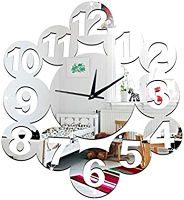 Nazaka | Wall Clock | 1 Set 2016 DIY Numbers Art Wall Clock DIY Clocks Quartz