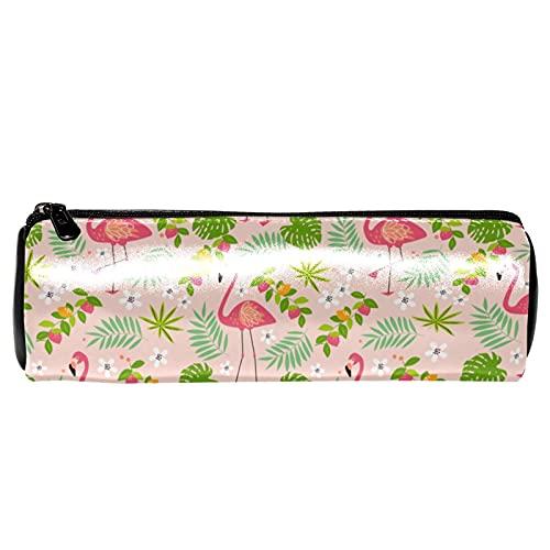 Fruity Flamingo Pink - Estuche para lápices de papelería, bolsa de almacenamiento, organizador de cosméticos para la escuela, adolescentes, niñas, niños, hombres y mujeres