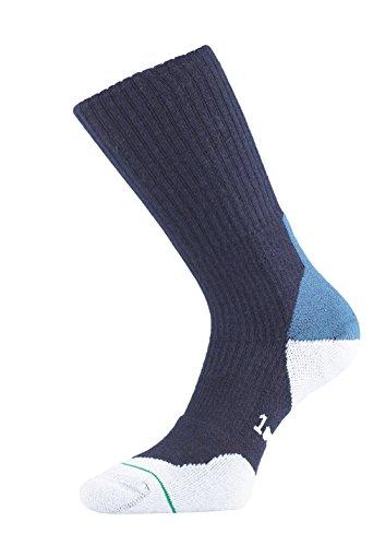 1000 Mile Herren Walking Socken Fusion Merino, Dunkelblau, L, 2032NL